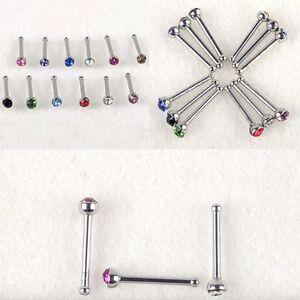 24PC-20G-Lot-Surgical-Steel-Crystal-Rhinestone-Nose-Piercing-Stud-Bone-Ring-Bar