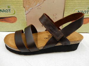 NAOT LEATHER Damenschuhe SANDALS KAYLA BUFFALO LEATHER NAOT SIZE EU 41     bd9012