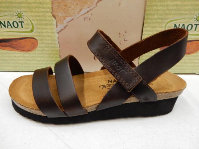d97e1e550742 Naot Womens Kayla Backstrap Wedge Sandal Shoe 8 Buffalo Leather for ...