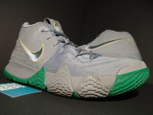 2a037053440d63 2017 NIKE KYRIE IV 4 CITY OF GUARDIANS COOL GREY WHITE GREEN GOLD ...