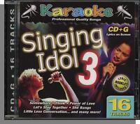 Karaoke Cd+g - Singing Idol Vol 3 - 16 Song Cd I've Got The Music In Me