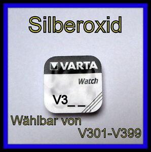 VARTA-Silberoxid-Knopfzellen-V321-V371-V377-V379-Uhrenbatterie-waehlbar