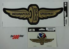 Indianapolis Motor Speedway Gold Wings Wheel 2 Decal Indy 500 Brickyard Nascar