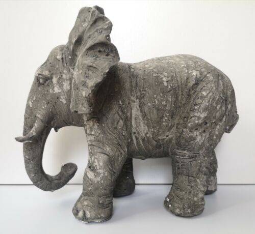 Grand deco personnage béton éléphant gris taches dekoobjekt sculpture statue
