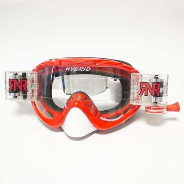 Rip N Roll Hybrid Motocross MX Moto-X Enduro Roll Off Goggles - Brilliant Red