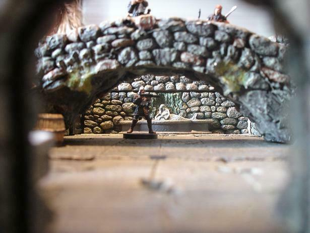Bridge Dwarven forge Miniature Modelism hand-painted Lighted lanterns Realistic