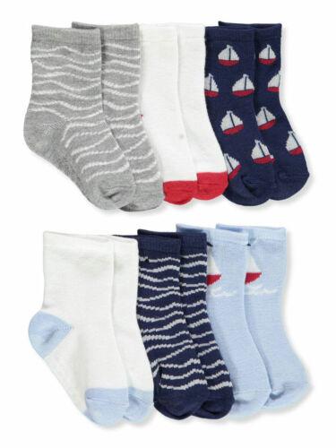Aden Baby Boys/' 6-Pack Gripper Crew Socks