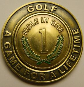 NEW-Hole-In-One-Commemorative-Pocket-Coin-w-removable-Golf-Ball-Marker-See-Pics