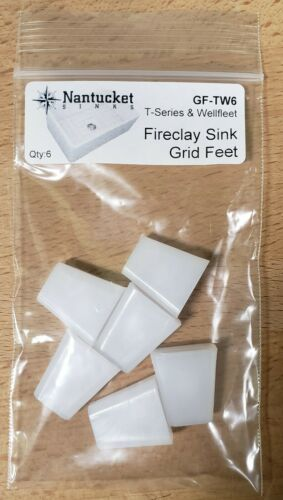 Set of 6 Bottom Grid Feet for Nantucket SInks T-FCFS30 T-FCFS24 T-FCFS33