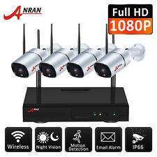 ANRAN 8ch NVR Wireless WiFi 960p HDMI DVR CCTV 4pcs Camera Home Security System