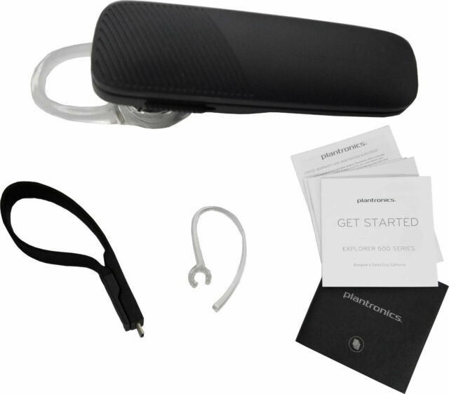 963003ed7ee New Plantronics Explorer 500 Wireless Bluetooth Headset HD Voice- Black