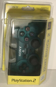 Official-OEM-Sony-PlayStation-2-PS2-Dualshock-2-Controller-Emerald-Green-Sealed