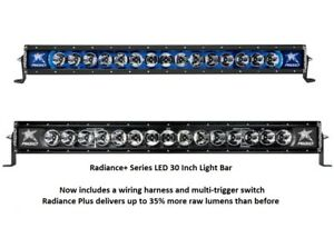 Details About Rigid Industries Radiance Plus With Blue Back Light Led 30 Light Bar