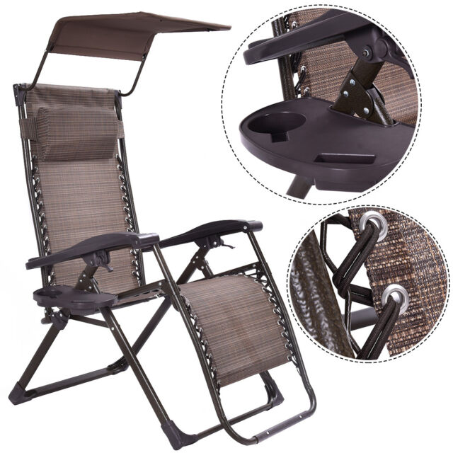 Foldable Zero Gravity Chair Lounge Patio Outdoor Yard ...