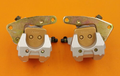 Front Left Right Brake Calipers For YAMAHA Banshee 350 YFZ 350 90-06 With Pads