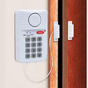 new wireless door alarm for shed garage caravan security keypad alarm uk 5075684352924 ebay. Black Bedroom Furniture Sets. Home Design Ideas