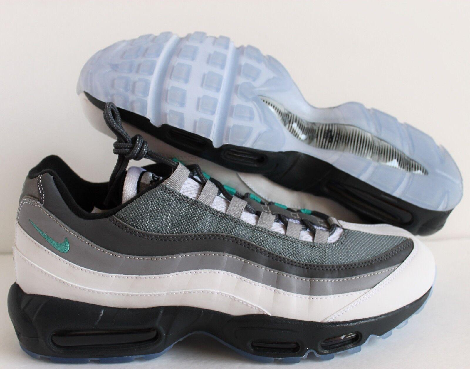 Nike Men Air Max 95 iD Grey-White-Green sz 11.5 [818592-996]