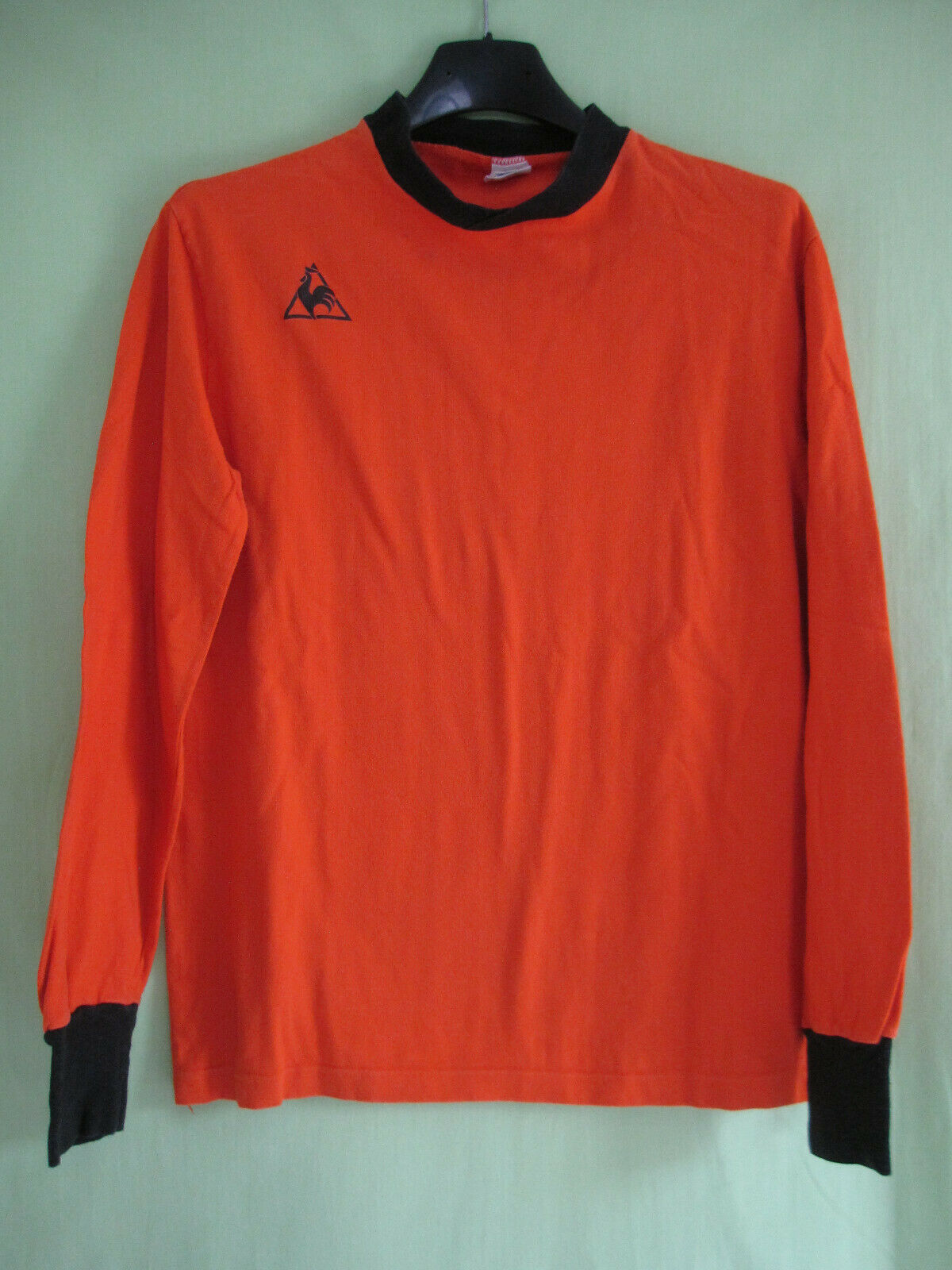 Maillot Le Coq Sportif Vintage orange 70'S Coton Made in France Shirt - S