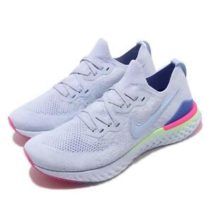 8b9a91406b65c Nike Epic React Flyknit 2 II Hydrogen Blue Men Running Shoes ...