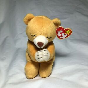 Retired-Ty-Beanie-original-Baby-1999-Hope-the-praying-bear-Mint-condition