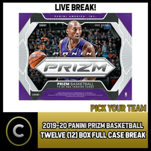 2019-20-PANINI-PRIZM-BASKETBALL-12-BOX-FULL-CASE-BREAK-B339-PICK-YOUR-TEAM