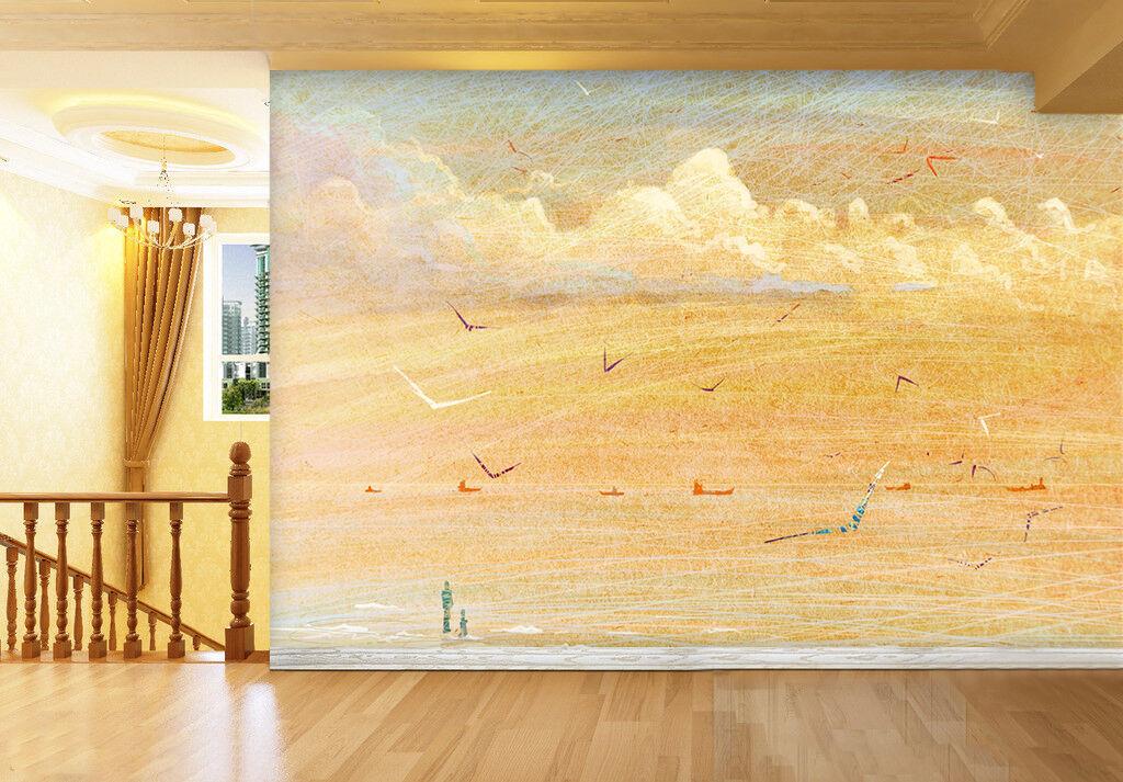 3D Blaurrot sea birds 11 Wall Paper Print Wall Decal Deco Indoor Wall Murals