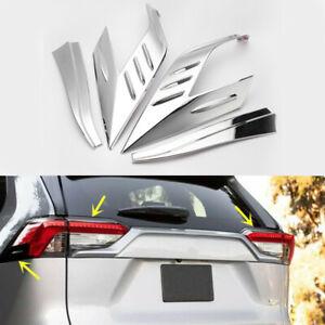 ABS Chrome Rear Tail Light Lamp Cover Trim 4pcs For TOYOTA RAV4 2013-2017