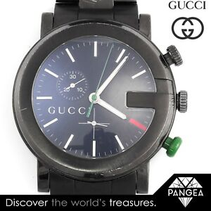 b6a09004a8d Image is loading Gucci-G-Chrono-Chronograph-YA101331-Black-PVD-Stainless-