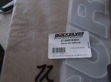 New Mercury Mercruiser Quicksilver Oem Part # 37-8M0038308 Decal-F//N//R Dual