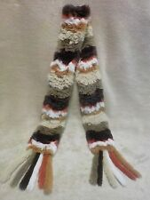 "Multicolor Real Rabbit Fur Scarf Women's Winter Fashion 53"" inches"