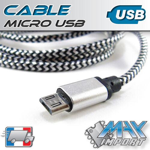 Cable micro USB de qualité - Longueur au choix - Lots multiples, prix dégressif