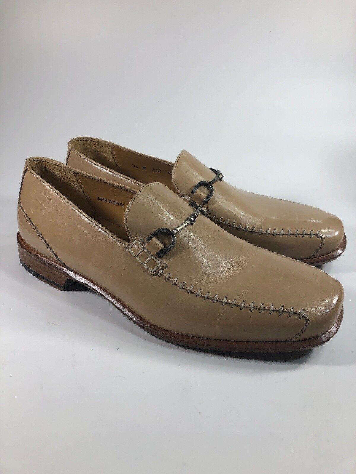 Giorgios Palm Playa nuevos Mocasines Cuero Tostado Bit de vestir Zapatos para hombre W