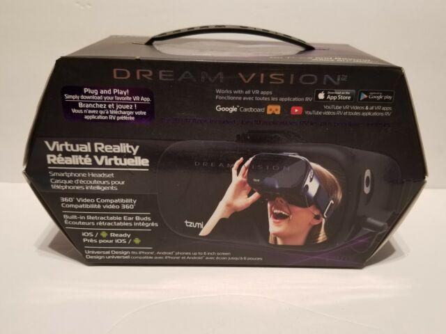 Tzumi Dream Vision Pro Virtual Reality VR Smartphone Headset OPEN BOX