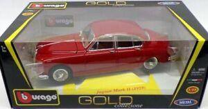Burago-1-18-Jaguar-Mk2-1959-Red-Model-Car
