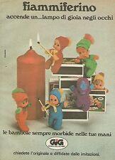 X7593 Fiammiferino GIG - Pubblicità 1977 - Vintage Advertising