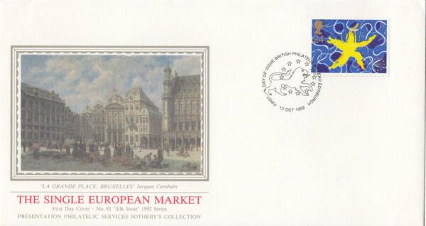 (09388) Gb Pps Sothebys Fdc Marché Unique Européen Bureau 13 Octobre 1992