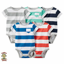 Carter's Bodysuits 5-Pack Short Sleeve Set Newborn Authentic and Brand New