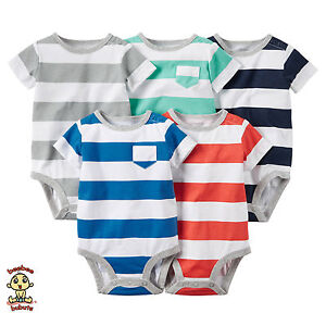 Carter-039-s-Bodysuits-5-Pack-Short-Sleeve-Set-6-months-Authentic-and-Brand-New