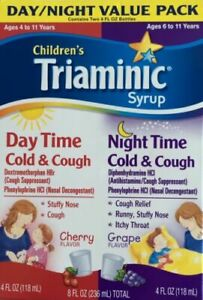 Children S Triaminic Day Time Night Time Cold Cough Syrup 4 Fl Oz Pack Of 2