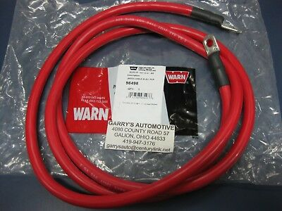 72 Length Red: 2 Gauge Winch Battery Electrical Cable WARN 98498 Service Part