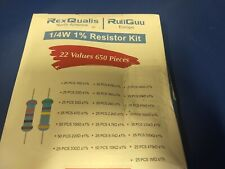 650pcs 22 Values 14w Metal Film Resistors Assortment Kit Set 1