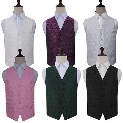 Herren Paisley Hochzeit Bräutigam Abend Weste,kravatte & Taschentuch - Größe