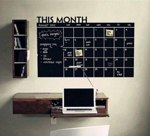 Month Calendar Planner Removable Decal Wall Sticker Vinyl Art Hot DIY Decor