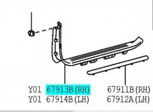TOYOTA-67910-60011-A0-Front-Door-Scuff-Plate-RH-Land-Cruiser-Genuine-OEM-Parts