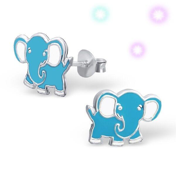 Elefant Ohrstecker 925 Silber Ohrringe Ohrschmuck Kinder Mädchen Damen gh-1a