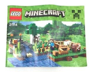 Lego Minecraft Instruction Manual Only 21114 The Farm 66 Pages Ebay