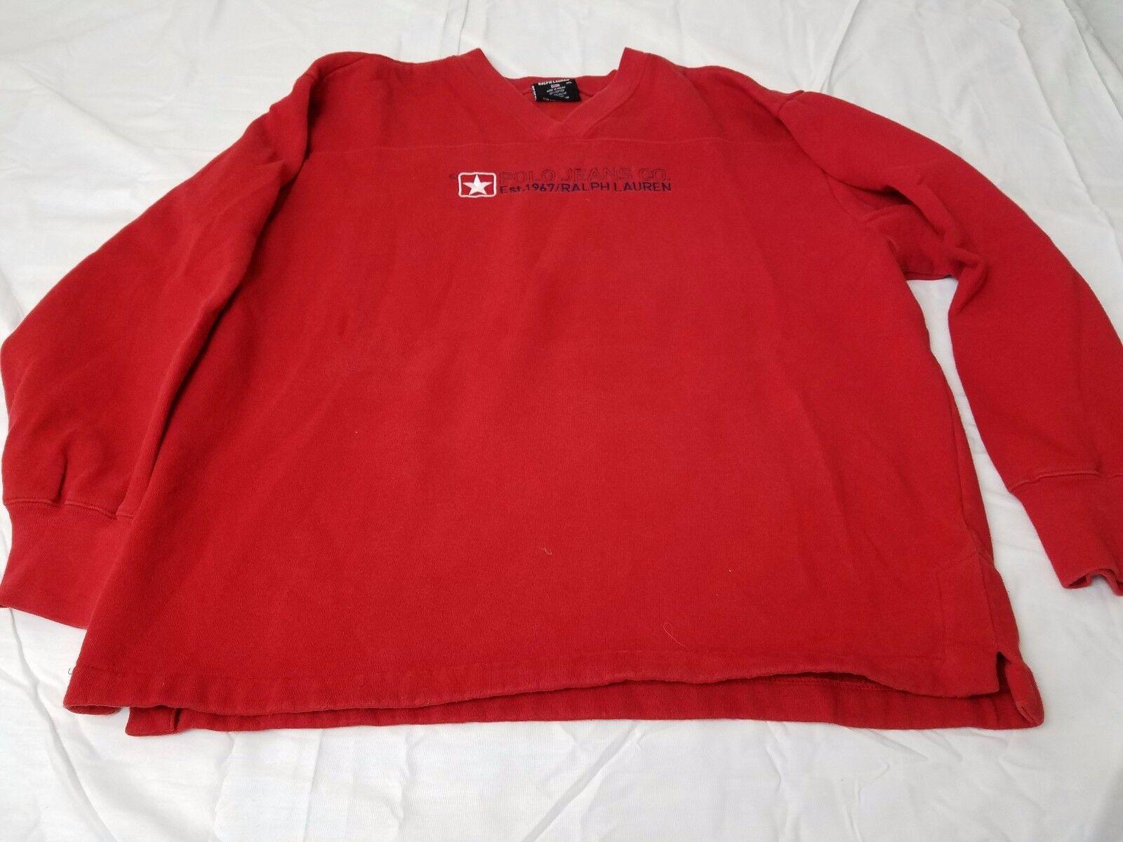 Vintage Polo Jeans Co. Ralph Lauren Red Women's Sweatshirt Size M L