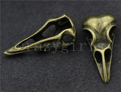 Lot 2//10//50pcs Vintage Tibetan Silver 3D Dinosaur skull Charms Pendant 32x15mm