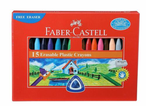 Pack of 15 70mm Erasable Plastic Crayon Set Better Grip And Control Assorted