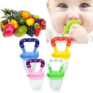 Unisex Toddlers Baby Teether Vegetable Fruit Teething Toy Ring Chewable Soother